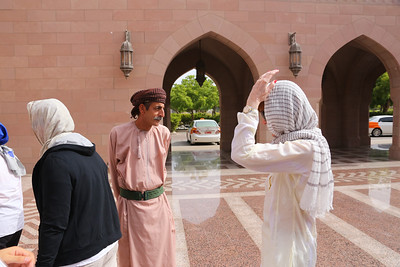 """clothing inspector"" before entering the Mosque, he made one lady go buy a ""proper"" cover"