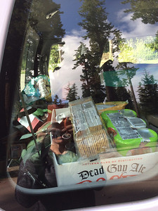 Provisions for a birding trip.