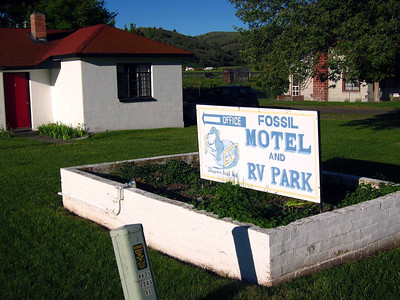 I spend two nights in Fossil, population 470