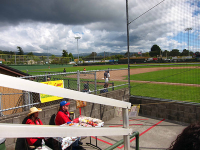 First game of a double-header at the Arcata ballpark, home of the Crabs