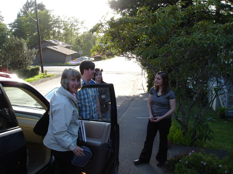 Winslow and Caitlin greet us upon our arrival at their home in Arcata, California.