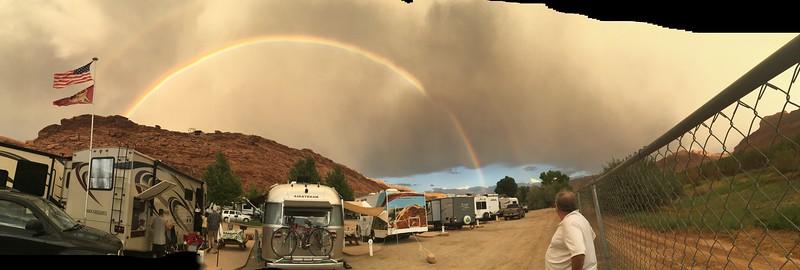 Stunning rainbow, major storm.
