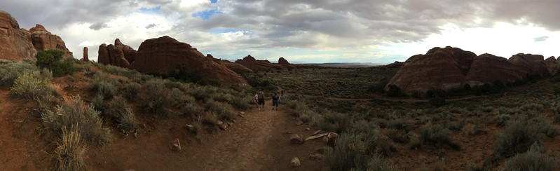 Hiking to the arches