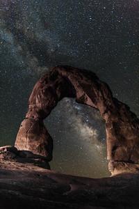 Delicate Arch, Milky Way