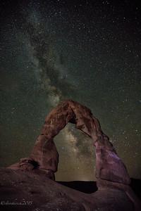 Milky Way Delicate Arch
