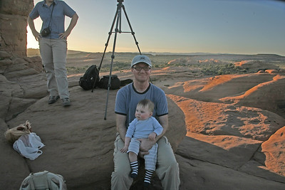 Hanging out at Delicate Arch.