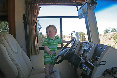 Eamon at the Wheel.