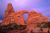 Sunrise, Turret Arch, Arches National Park, Moab, Utah, USA, North America