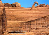 Person Walking near Delicate Arch, Arches National Park, Moab, Utah, USA, North America