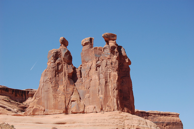Arches National Park-Three Sisters of Park Avenue