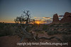 Sunset in Arches National Park, Utah; best viewed in the larger sizes