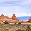 Arches National Park with La Sal Mountains in rear.