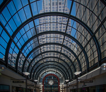 Galleria arched skylight
