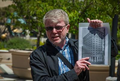 Rick Evans describing one of several SF Flatiron Buildings.