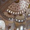 The interior handmade İznik style ceramic tiles of the Blue mosque