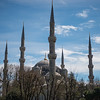 The Sultan Ahmet Camii or the Blue mosque with its six minarets was built by Ahmet I to dominate above the previously Christian Ayasofia mosque