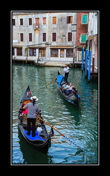Gondolas on small canal...