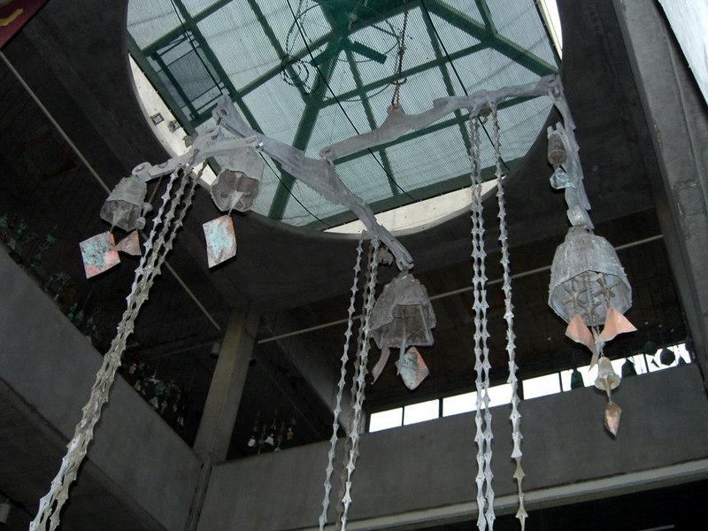 Soleri bells at Arcosanti, Arizona, Aug. 2006
