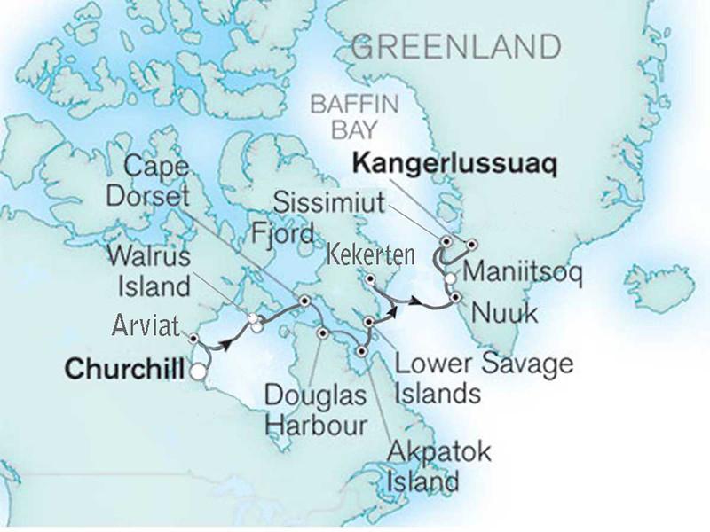 Silversea Explorer trip - 2013<br /> Churchill, Canada to Kangerlussuaq, Greenland