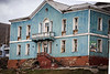 Abandoned buildings at the Russian coalmining town Barentsburg.
