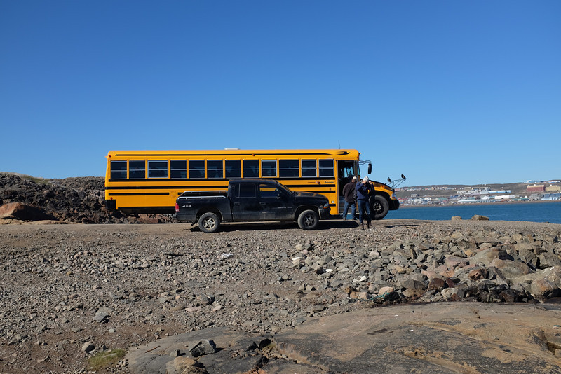 Our Tour Bus and Transportation to Zodiac Landing