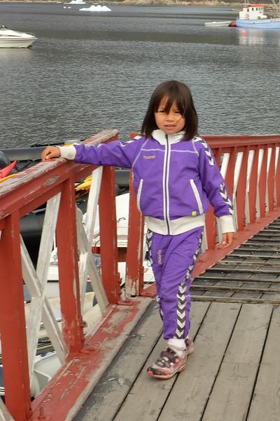 Local Inuit (Kalaallit) Child at the Landing