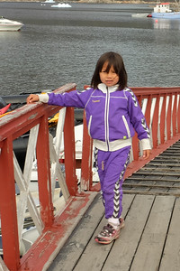 Local Inuit (Kalaallit) Child at the Landing