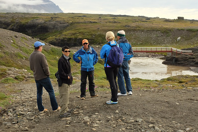 We Assemble For a Hike Up the Kuussuaq River in Blæsedalen Valley