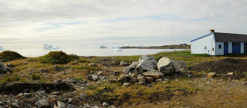 View of Disko Bay from Qeqertarssuaq