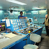 Here is the engineering area. In addition to containing computers, instruments, and equipment to manage and monitor all systems on board, the ship could also be navigated entirely from here, with controls duplicated from the bridge.