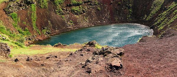 Kerid volcano on Iceland, Reykjavik golden circle tour