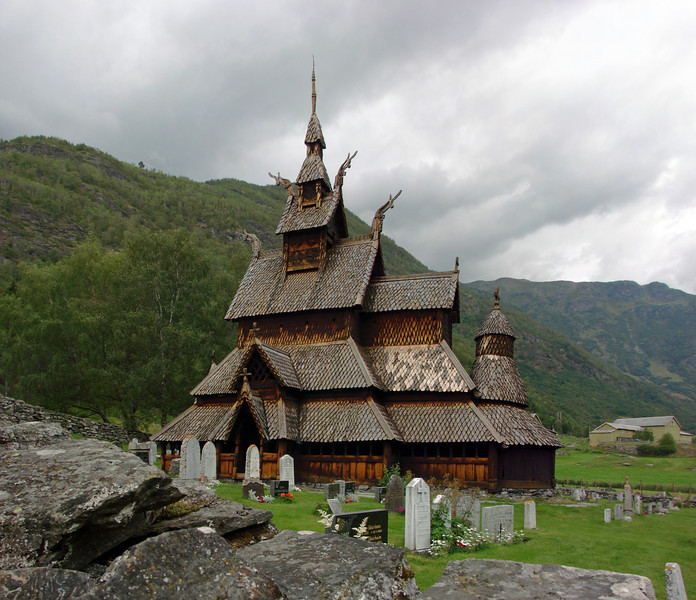 This stave church in Borgund is about 1000 years old