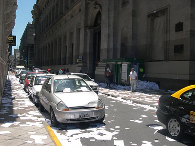 New Years Eve: Celebrated in Buenos Aires by throwing paper out of office windows on the last work day of the year!