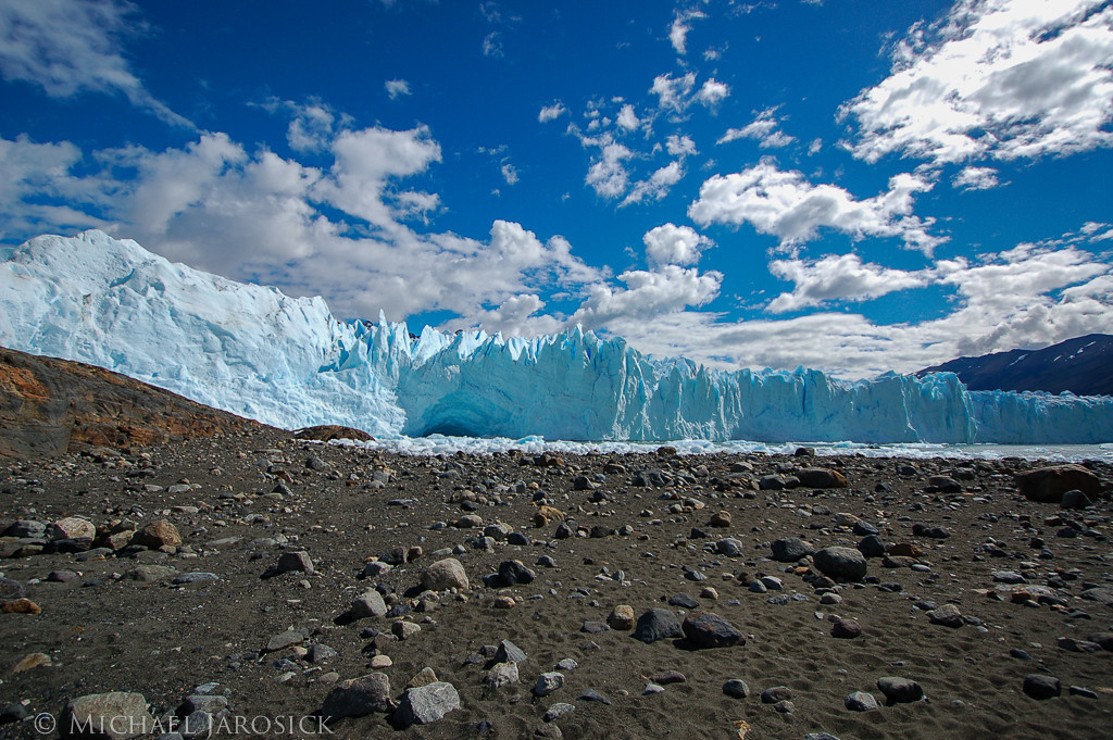 This photo and the next 5 photos are views from the area of our boating destination close to the glacier.