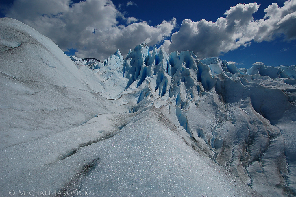 I didn't mind being loudly scolded in Spanish for straddling this ice ridge to get this shot.