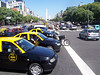 """<h3>Middle of """"Avenida 9 de Julio"""".  (Hispanics like to name streets after important historical dates.)  The cabs are cheap by our standards; five miles might cost a couple of bucks.</h3>"""