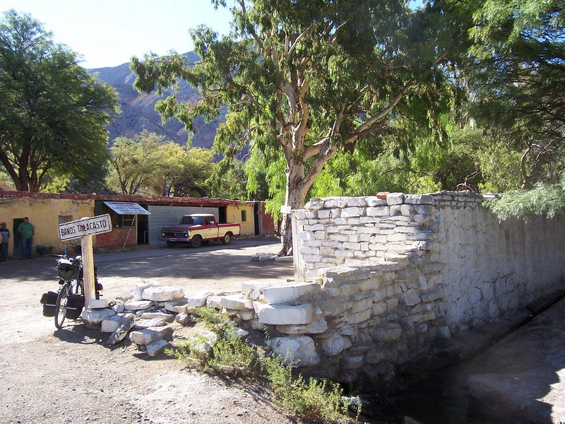<h3>The Talacasto baths, an oasis in the desert north of San Juan.  Air temperature 94 degrees, water temperature 75 degrees.</h3>