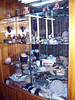 <h3>The mini-museum at the Plaza hotel.  (Rhea egg in the black bowl on the center shelf.)</h3>
