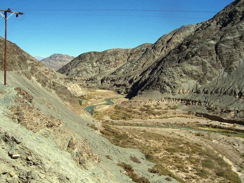 <h3>The gorge between Rodeo and San Jose de Jachal.</h3>