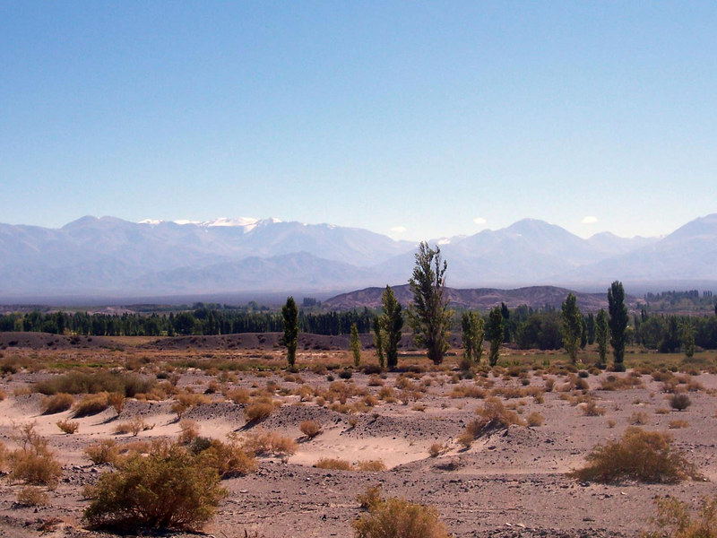 <h3>Approaching Iglesias, and finally reaching the edge of the Andes.</h3>