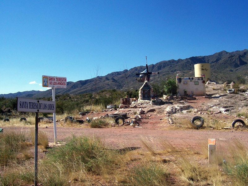 <h3>A well established shrine near Potrerillos.</h3>