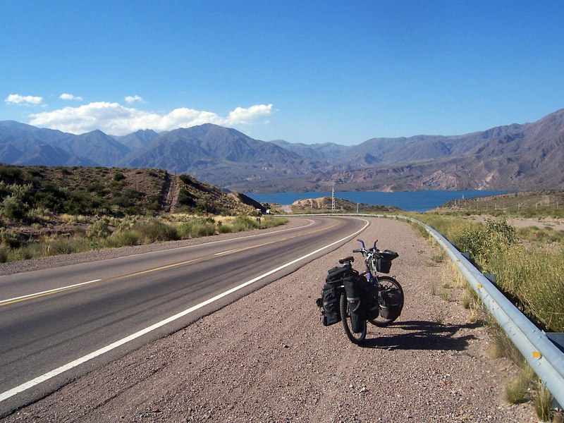<h3>The downhill going into Potrerillos.</h3>