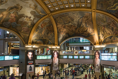 A view of the mall showing more of the beaux arts ceiling.
