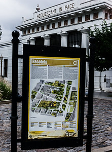 Recoleta means a quiet place in Spanish.  In Buenos Aires, Recoleta refers to both a quiet, upscale neighborhood and to a cemetery with elaborate mauseleoms and sculpture.