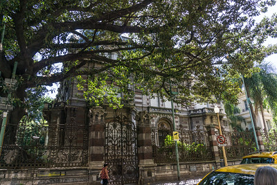 One of the grand houses in the Recoleta area of Buenos Aires