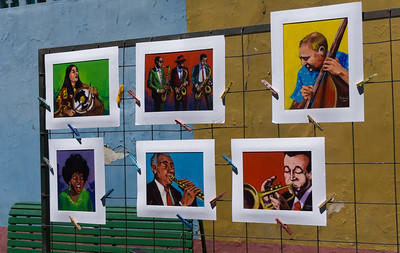 The streets of La Boca show many examples of local art