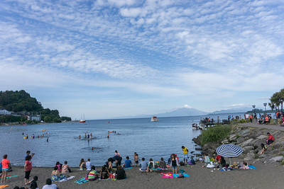 The beach, the lake and the volcanoes at Puerto Varas
