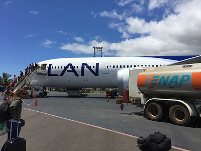 The LAN Chile Dream Liner that brought us to Easter Island