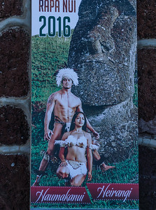 Advertisement for a traditional Easter Island dance show.