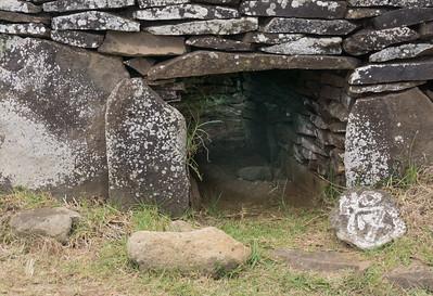 An Orongo house.